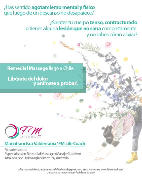 Remedial Masagge llega a Chile!